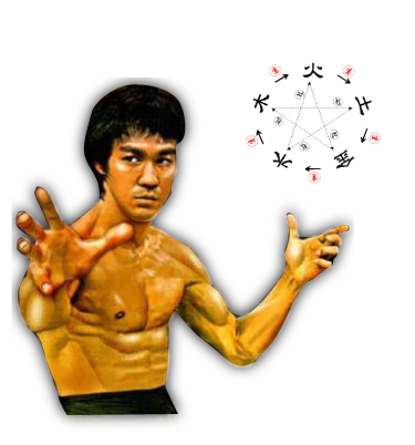 The One, The Only Bruce Lee – balancing the elements having harnessed mysterious powers
